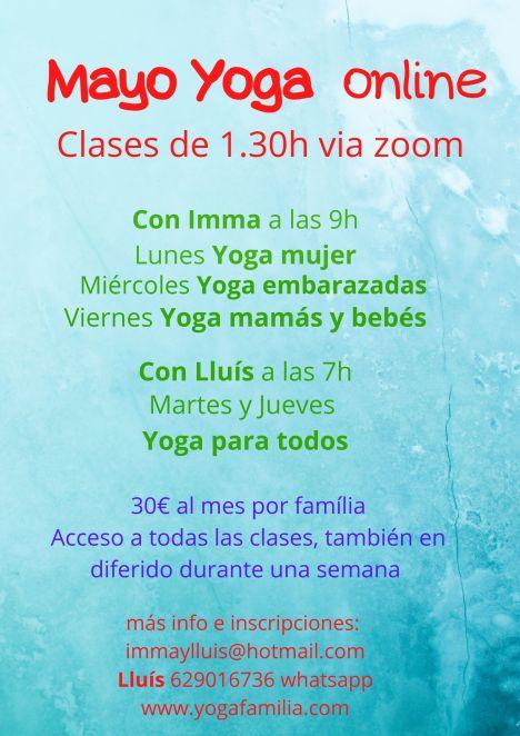 Clases de Yoga via zoom